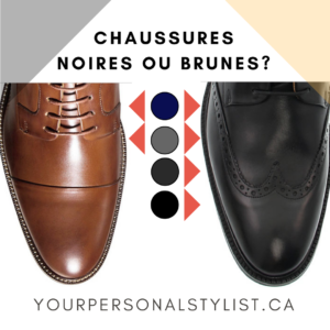 Avec quelle couleur de pantalon porter vos chaussures noires ou brunes ?
